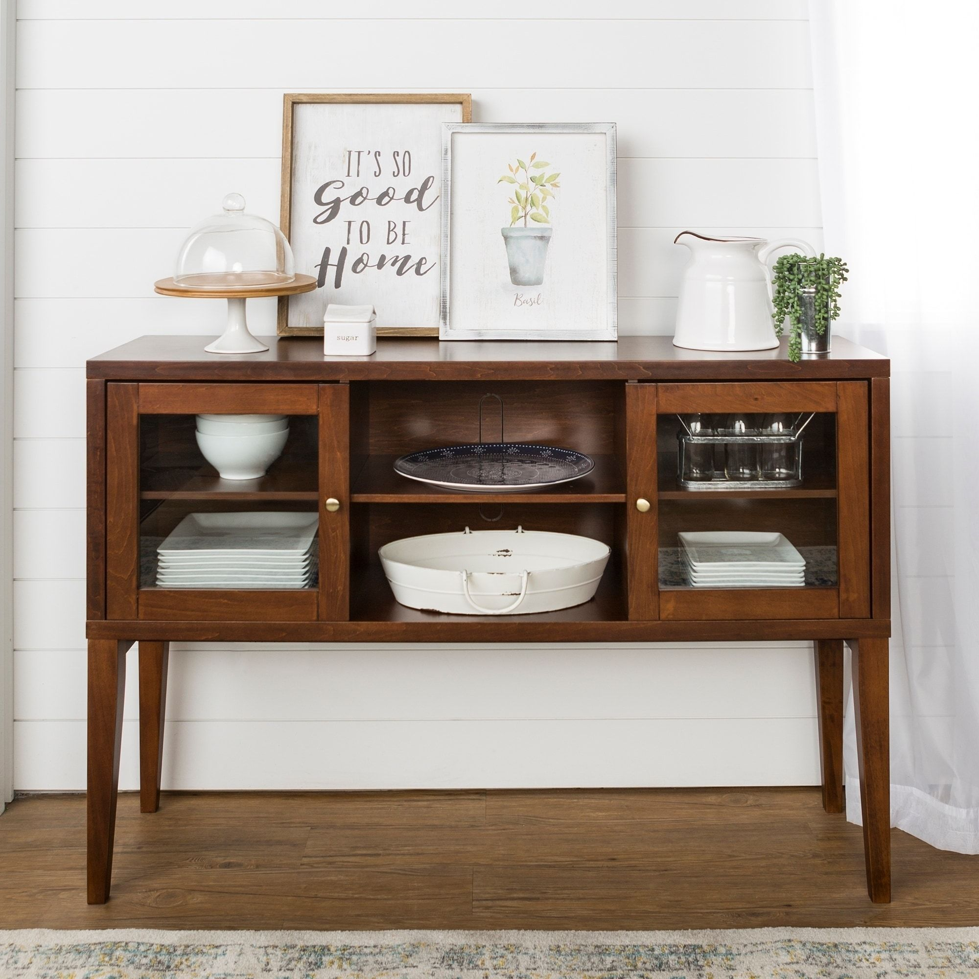Strick & Bolton Toneff 52 Inch Wood Buffet With Tapered Legs