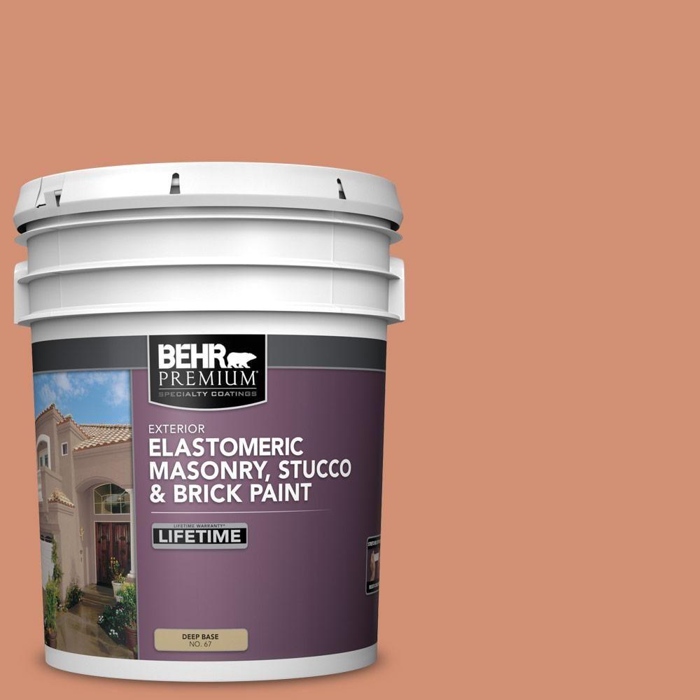 BEHR Premium 5 gal. #M200-5 Terra Cotta Clay Elastomeric Masonry, Stucco and Brick Exterior Paint-06705 - The Home Depot