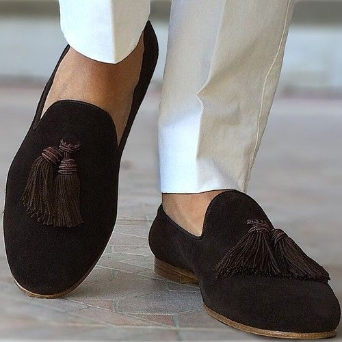 1d9b0b51c1c2f SUPERGLAMOUROUS Dapper Shoes for Daniel wearing LOUIS Dark brown Suede  Slippers
