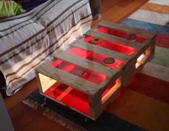 Marvelous Table Basse En Palette Et Plexi