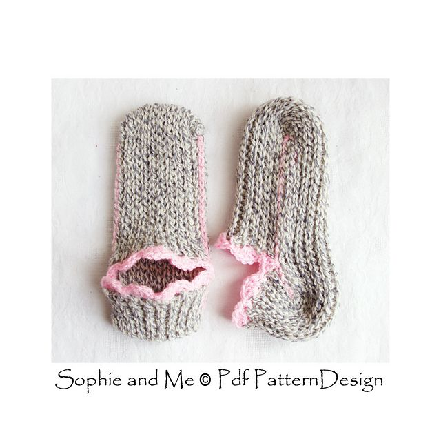 Ribbed Slipper Pocket Socks pattern by Sophie and Me-Ingunn Santini ...