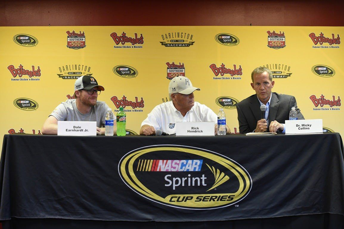 Dale Jr interview with Doctor Mickey Collins NASCAR