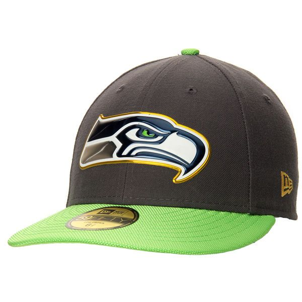 Men s Seattle Seahawks New Era Graphite Gold Collection On Field Low Crown  59FIFTY Fitted Hat 8445dd8e2f32