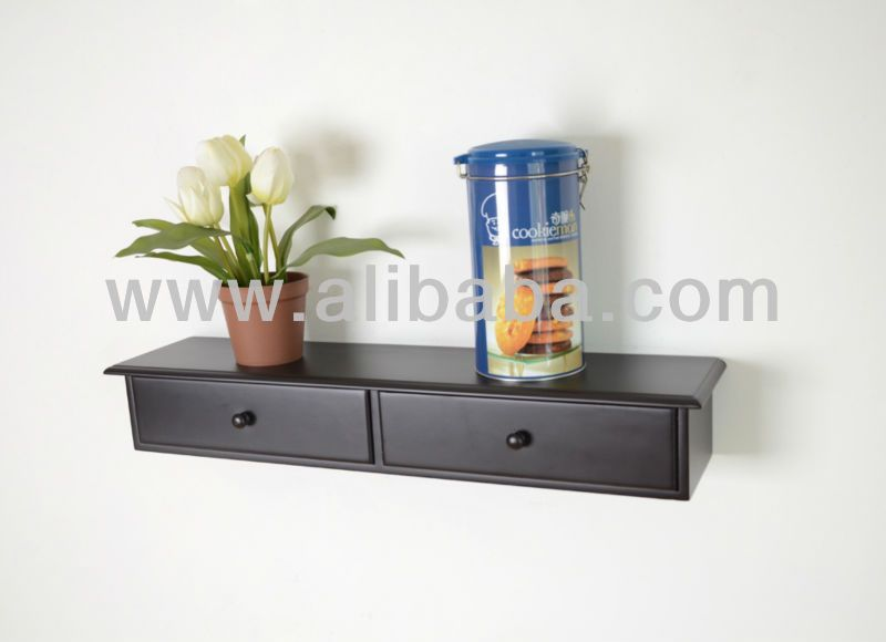 Floating Wall Shelf with 2 drawer $60~$65