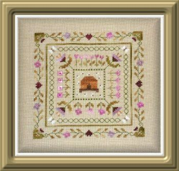 Beehive In The Garden French Counted Cross Stitch Chart To
