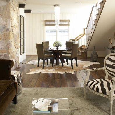 Cowhide Rug Design Dining Room Table Decor And Ideas