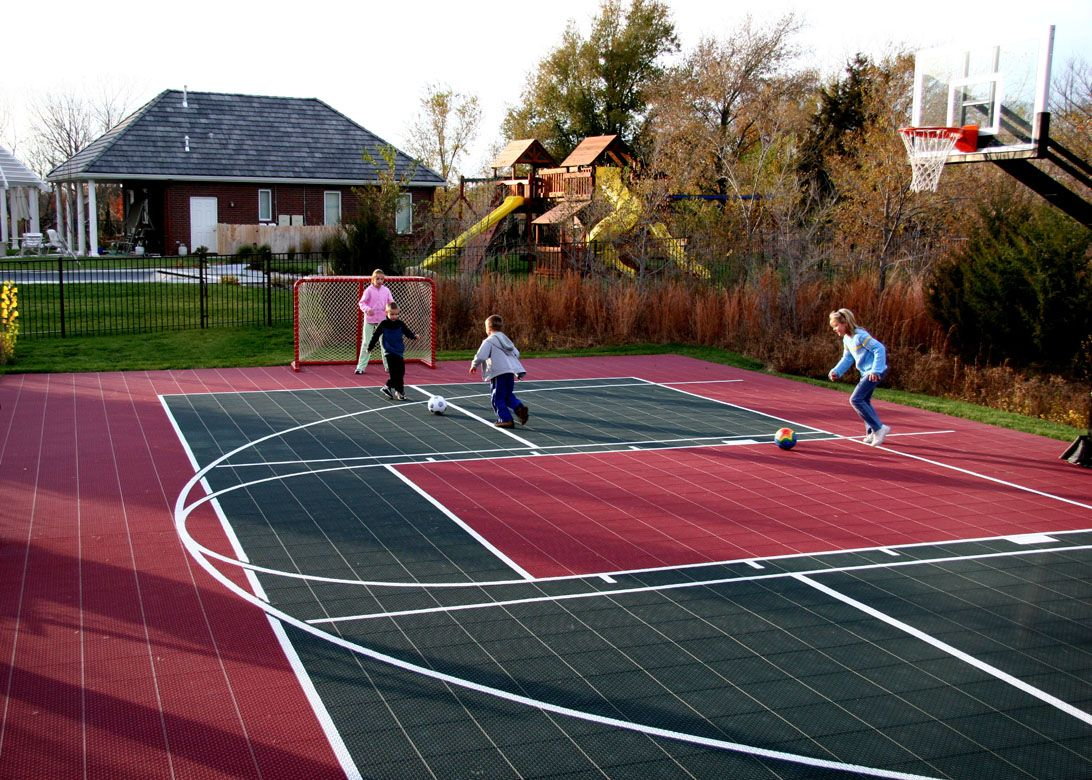 Backyard sport court new house ideas pinterest for Backyard sport court ideas