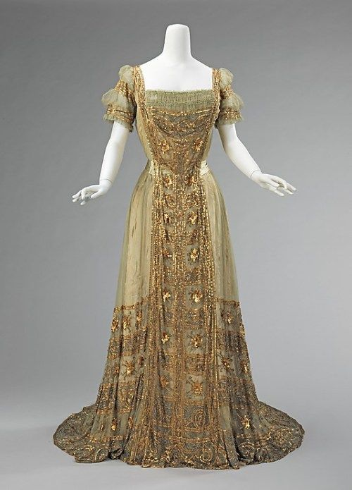 1910 Ball Gown (the Met) | Pygmalion | Pinterest | Ball gowns, Gowns ...