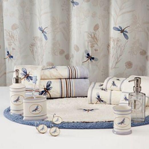 pretty dragonfly shower curtains. Blue Dragonfly Set Valley Floral Fabric Shower Curtain Bath Rug
