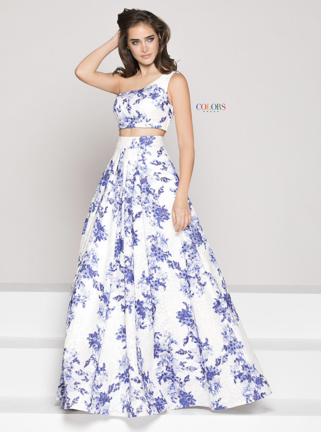48 2 Piece Embroid Mesh Dress Style 1836 Floral Evening Dresses Evening Dresses Colorful Dresses [ 1436 x 1066 Pixel ]