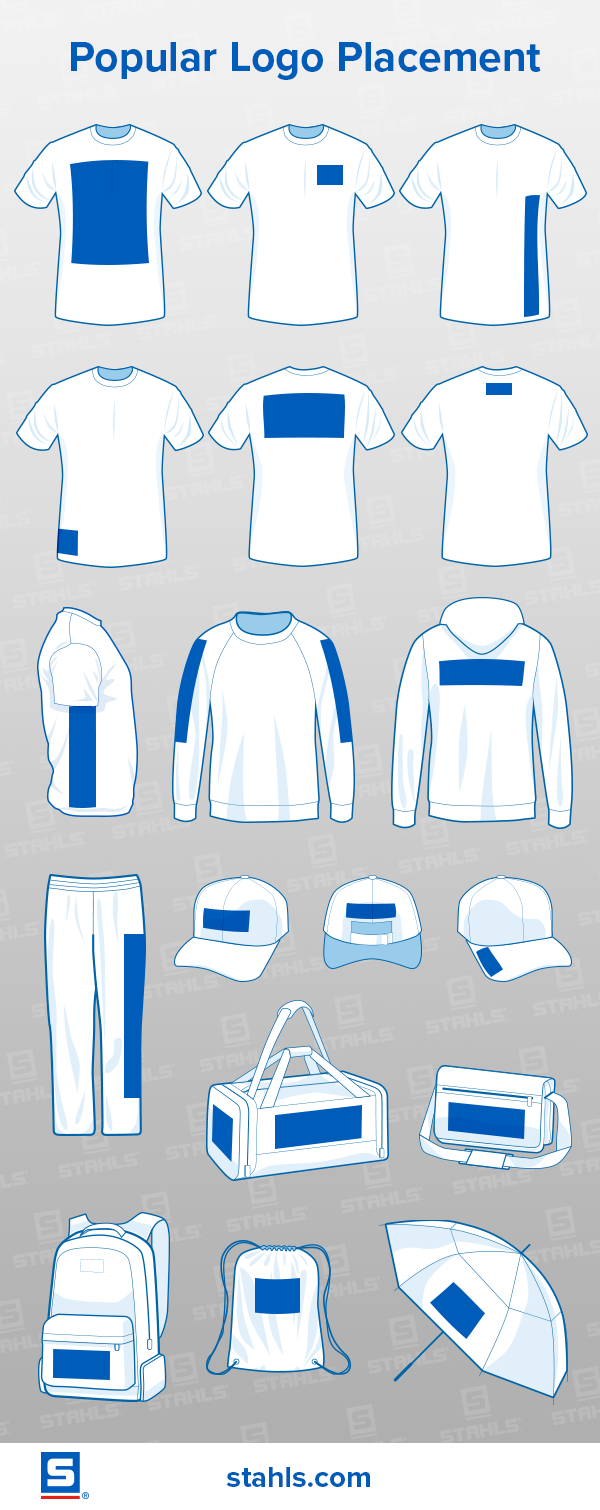 Design Size Placement Ideas For Custom Apparel Shirt Logo Design Popular Logos Graphic Design Tips