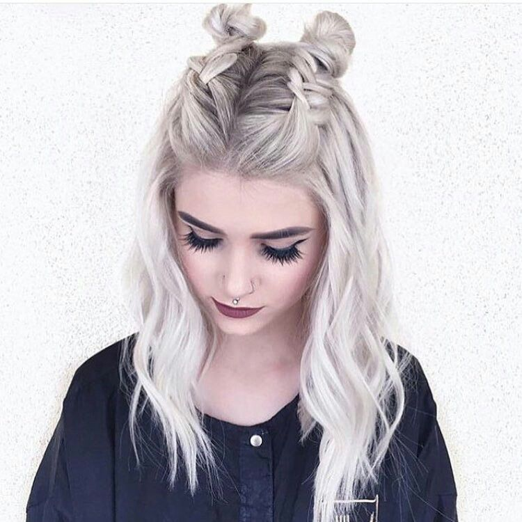 Braided Space Buns Braided Hairstyles In 2018 Pinterest Hair