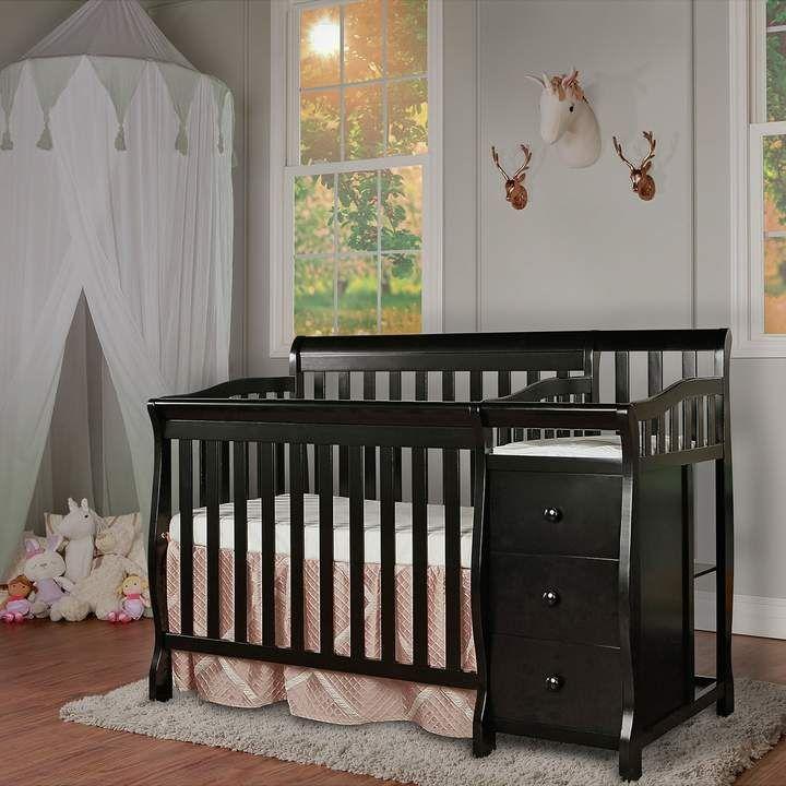 Dream On Me Jayden 4 In 1 Mini Convertible Crib Changer Convertible Crib Cribs Convertible Toddler Bed