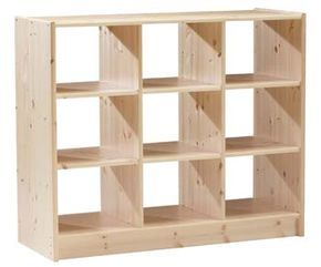 Oferta Mueble Biblioteca Cubo Con Estantes Minimalista 650 00 En Mercadolibre Muebles Cubos De Madera Libreros De Madera