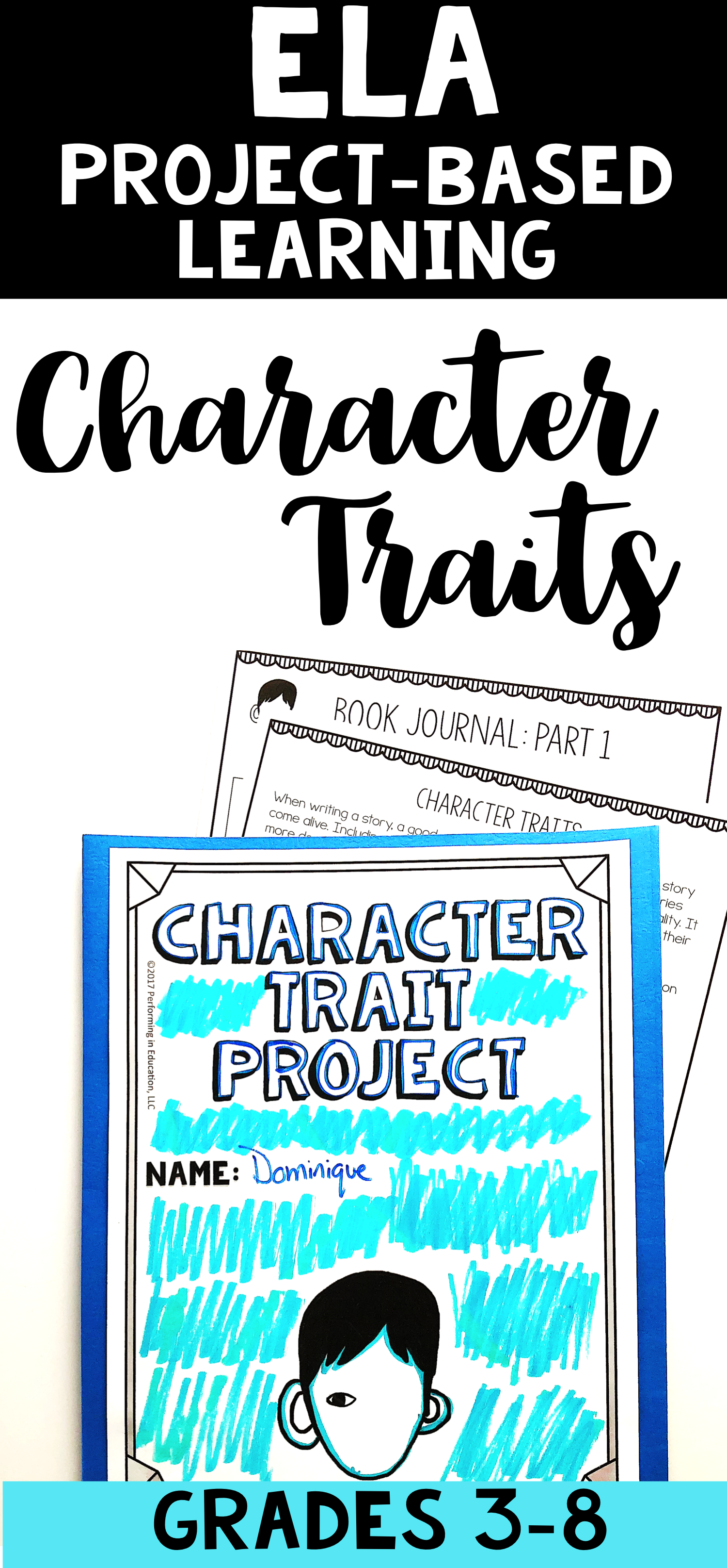 Character Traits Ela Project Based Learning Activity Using