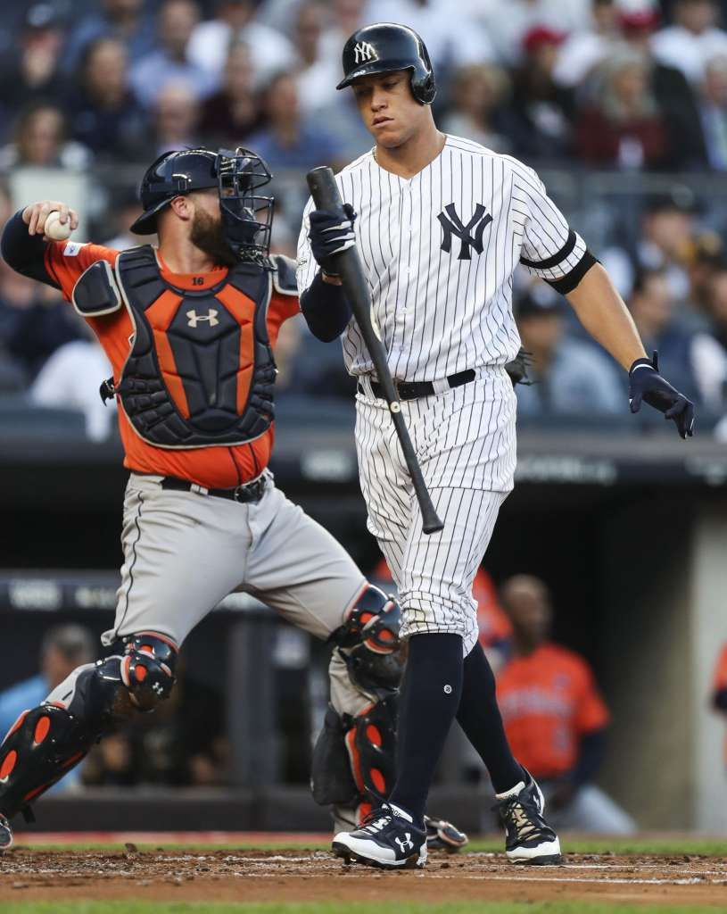 Astros On Brink Of Elimination After Being Shut Out By Yankees In Game 5 Brian Mccann New York Yankees Yankee Stadium