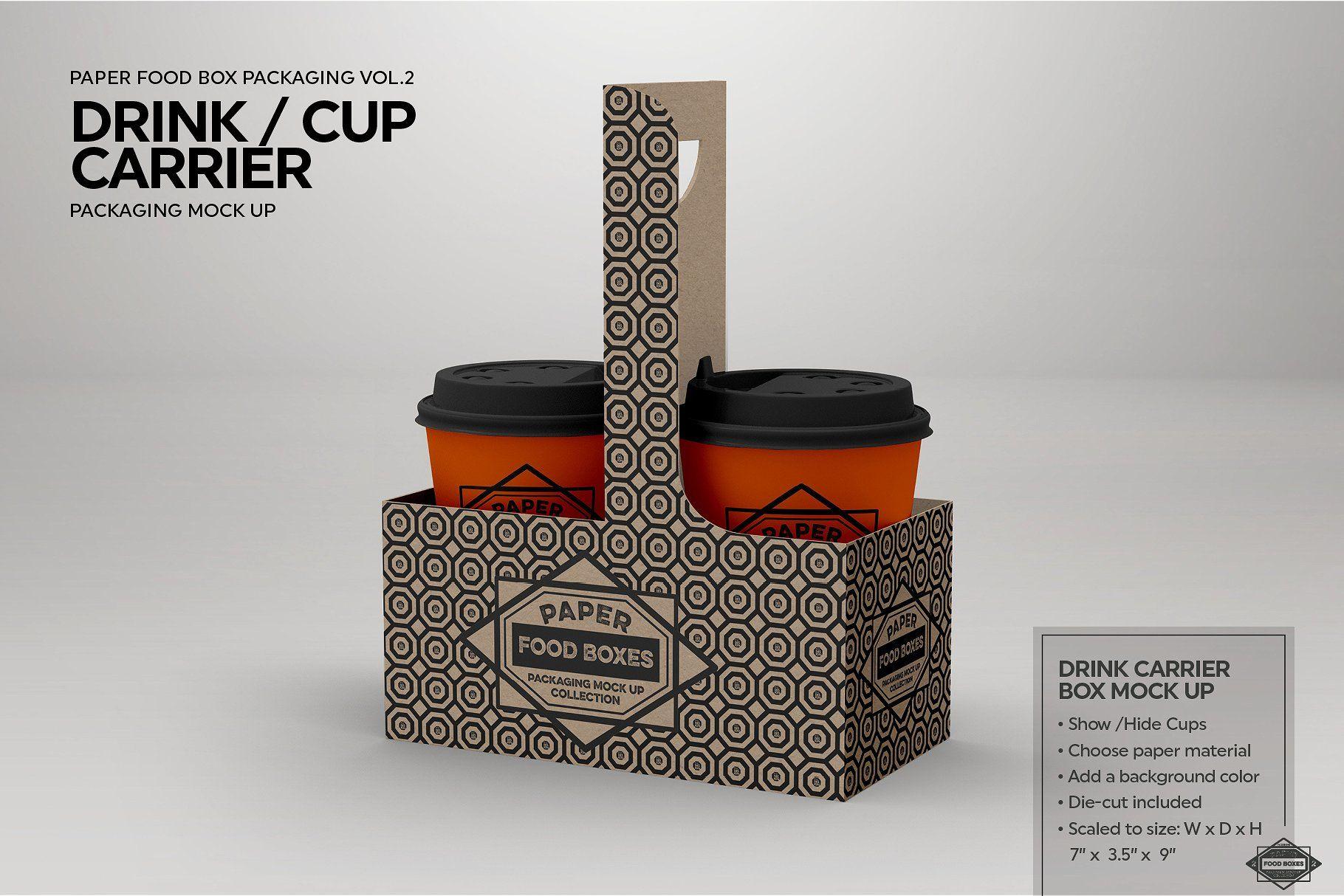 Download Vol 2 Food Box Packaging Mockups Packaging Mockup Free Logo Mockup Psd Mockup Free Psd