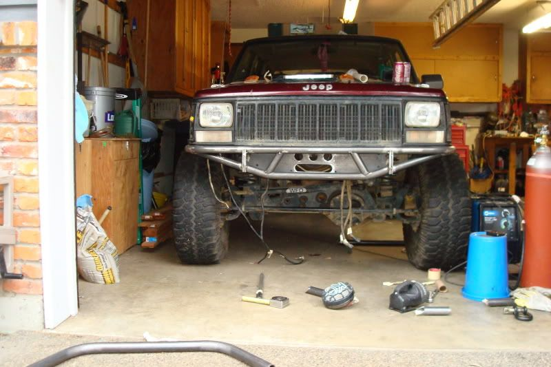 My Front Tube Bumper With Winch Behind The Crossmember Naxja