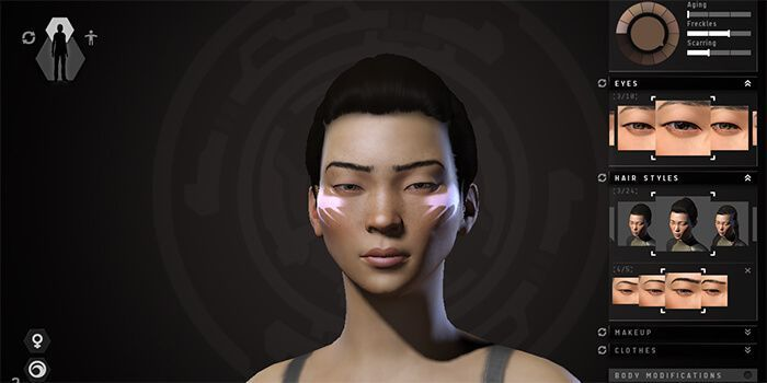 eve online character creator character customization pinterest