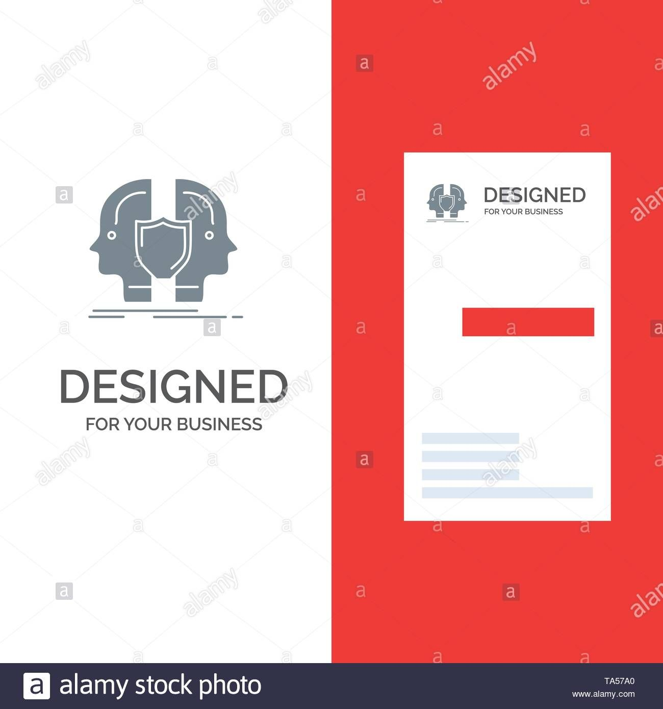 Man Face Dual Identity Shield Grey Logo Design And Inside Shield Id Card Template Cumed Org Id Card Template Card Template Stunning Business Cards
