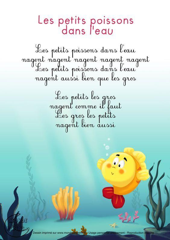 Un Petit Poisson Dans L Eau : petit, poisson, Petits, Poissons, L'eau, Comptines,, Chansons, Comptine, Doigts