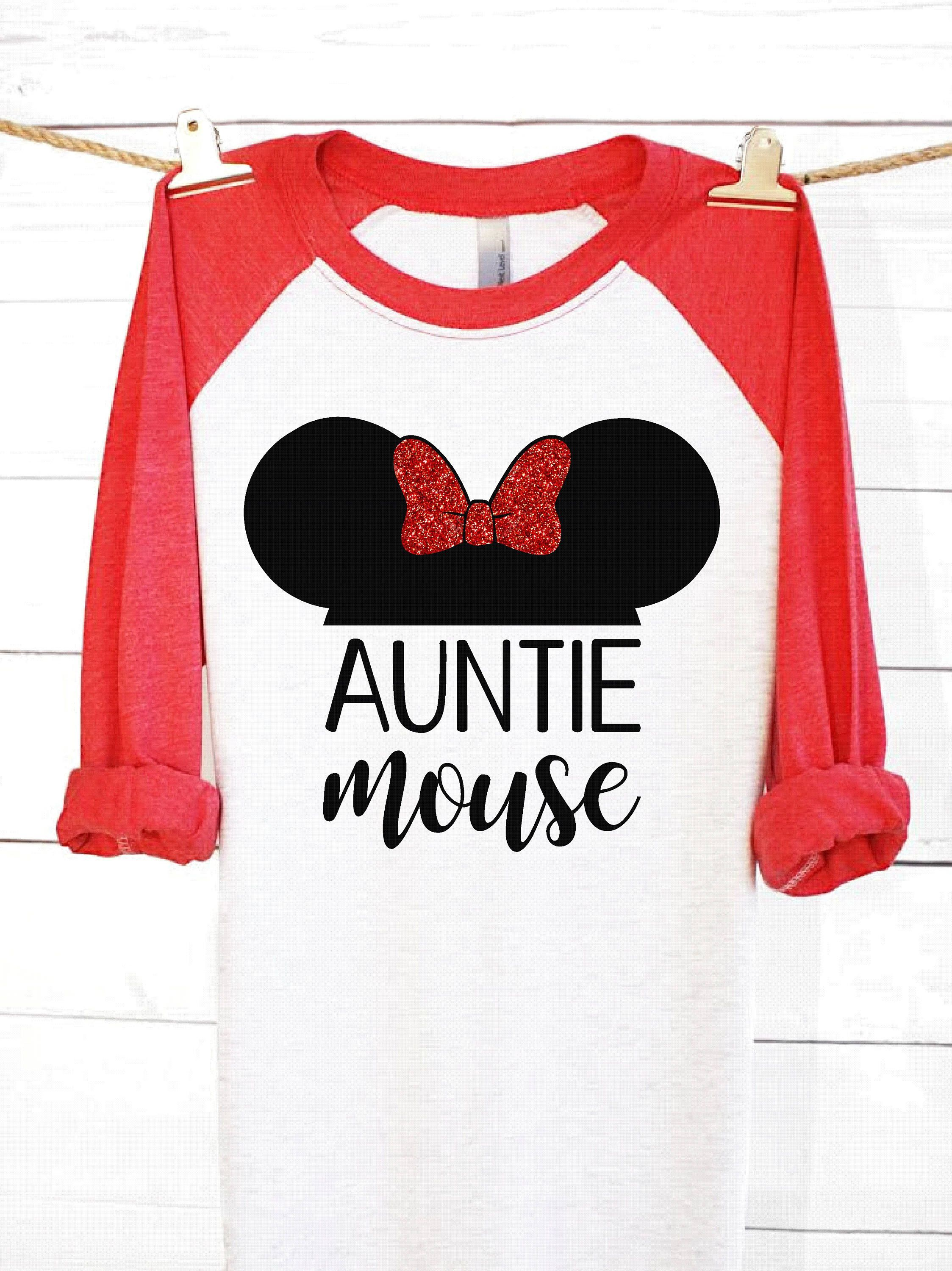 Auntie Mouse | Disney Shirts | Disney Family Shirts | Minnie Mouse ...