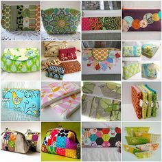 Pouches galore!! My pouches were featured in this mosaic!! Thanks Jess :)