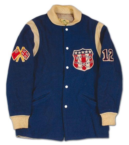 Vintage New York Americans Jacket Hockey Clothes Vintage New York Sports Uniforms
