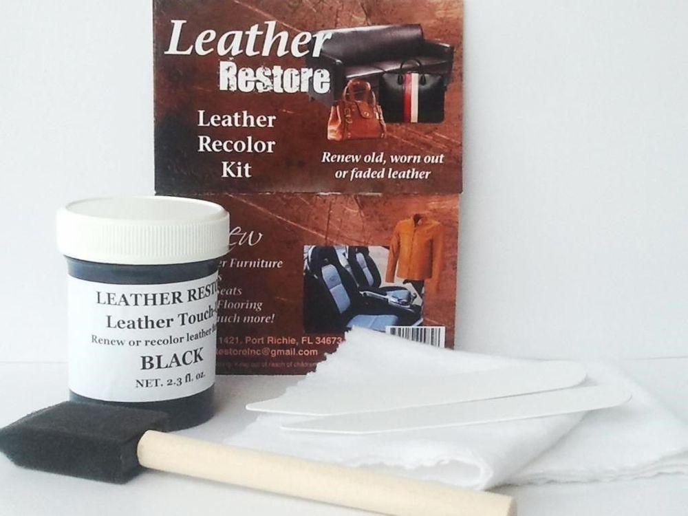 Leather Restore Black Leather Dye Kit Repair Recolor Renew Furniture ...
