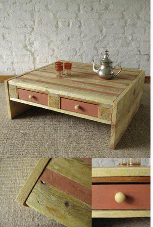 Reciclar palets de madera desayunado para cama - Reciclar con palets ...