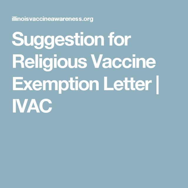 Vaccination exemption letter sample immunization religious suggestion for religious vaccine exemption letter ivac altavistaventures Gallery