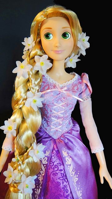 Disney Store Tangled Rapunzel 17 Singing Doll Hair Braided Version Braided Hairstyles Braids Doll Hair