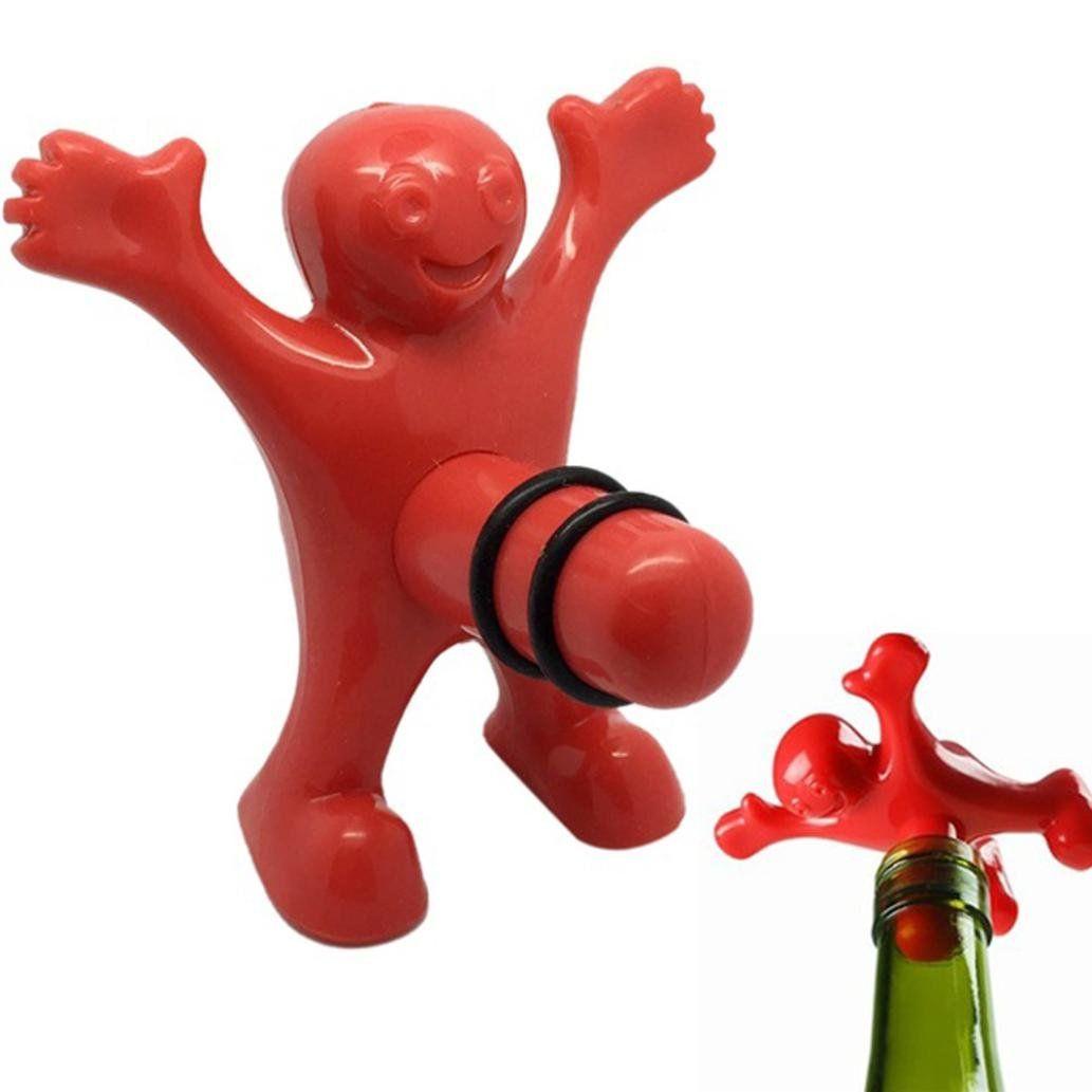 Nxda Enduring Kitchen Bar Red Happy Man Wine Beer Soda Bottle Opener Stopper Plastic Visit The Image Link More Wine And Beer Soda Bottle Opener Wine Bottle