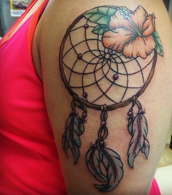 Hawaiian Dream Catcher Hawaiian Dream Catcher tattoo Tattoos Pinterest Catcher 12