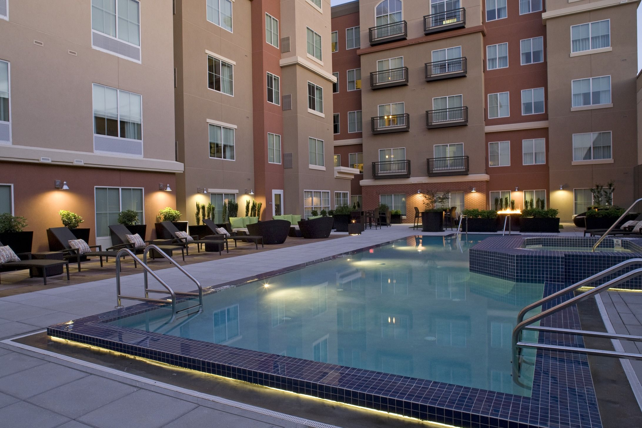 End Your Day With A Dip At Dusk In Our Outdoor Pool At Hyatt House Outdoor Pool Extended Stay Hotel