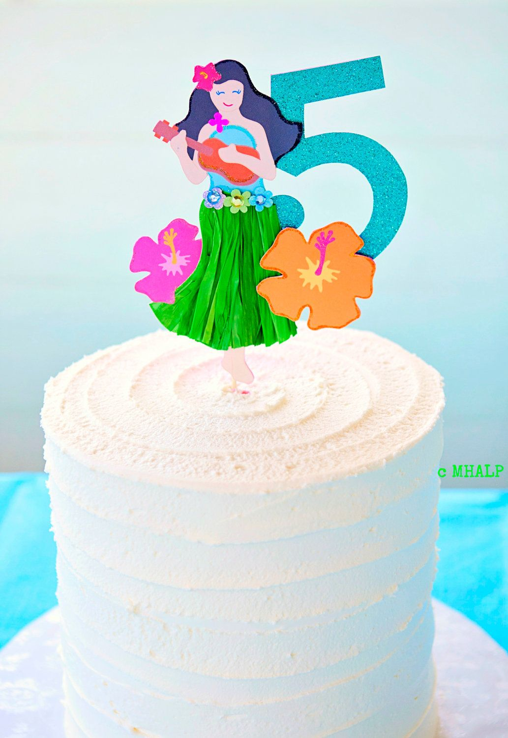 The Hula Collection Custom Cake Topper from Mary Had a