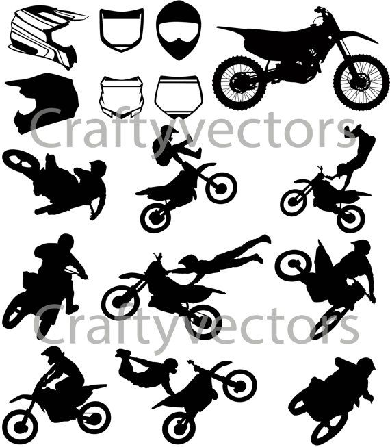 Motocross Vector File Svg Motocross Vector File Silhouette Images
