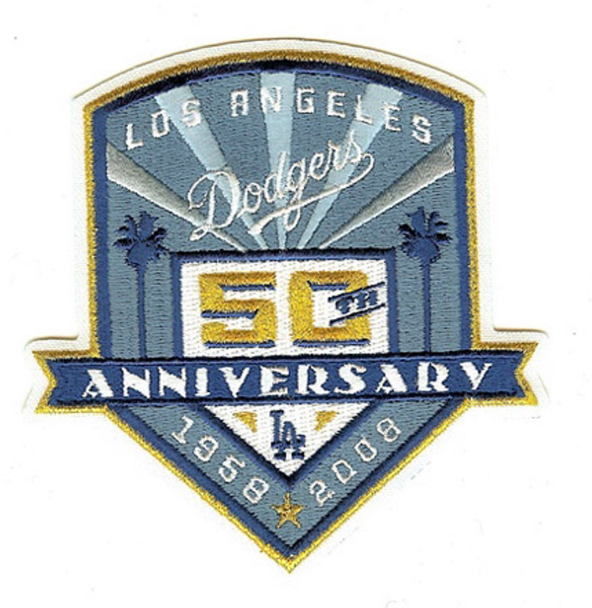 Los Angeles Dodgers 50th Anniversary Athletics logo