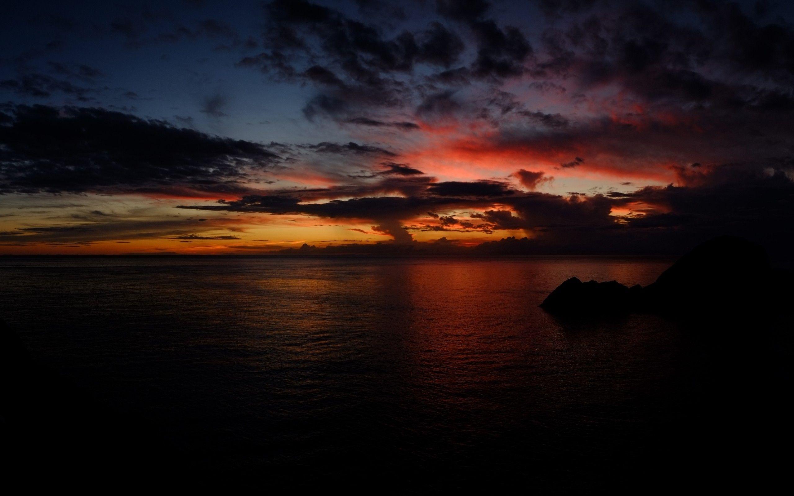 Dark Ocean Wallpaper Full Hd Ctz Dark Landscape Ocean Wallpaper Sunset Wallpaper