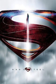 Póster Superman, Man of Steel. Logo