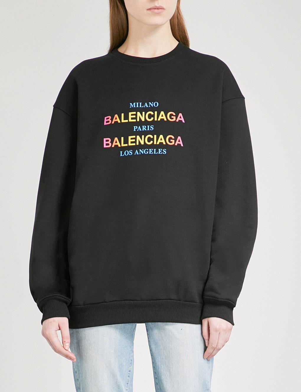 f46cf5e48 BALENCIAGA Oversized cotton-jersey sweatshirt in 2019