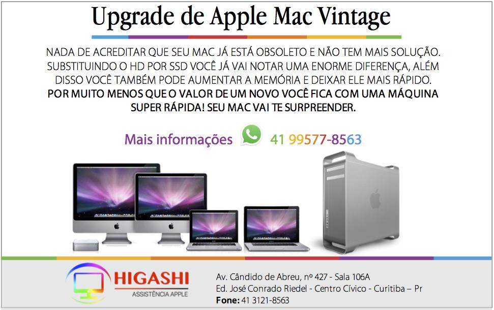 Se você tem um Apple antigo que precisa de um Upgrade
