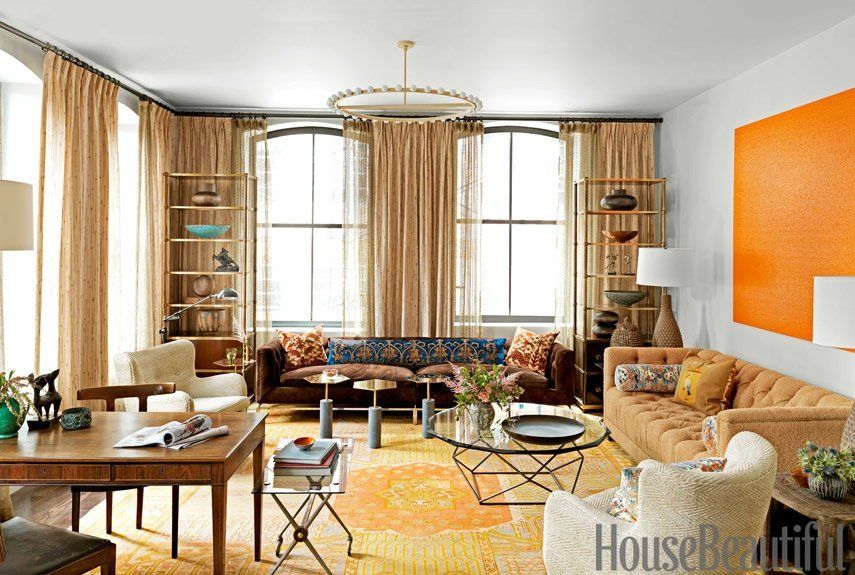 David Rockwell For House Beautiful House beautiful, Living rooms
