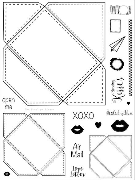 The Envelope Please 6x8 Stamp Set A91 Mini Envelopes Diy Handmade Envelopes Envelope Template