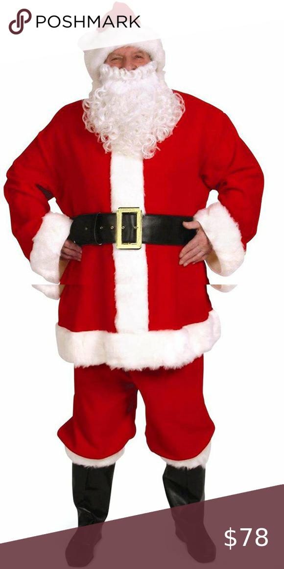 Complete Duvetyne Santa Suit Costume Santa Suits Cool Costumes Santa Costume