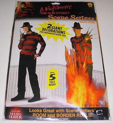 Giant Freddy Nightmare On Elm St Halloween Vinyl Poster Wall Decor - halloween scene setters decorations