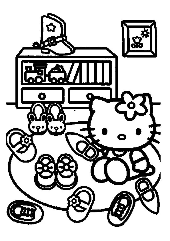 Coloring Page Hello Kitty Colouring Pages Hello Kitty Coloring Kitty Coloring