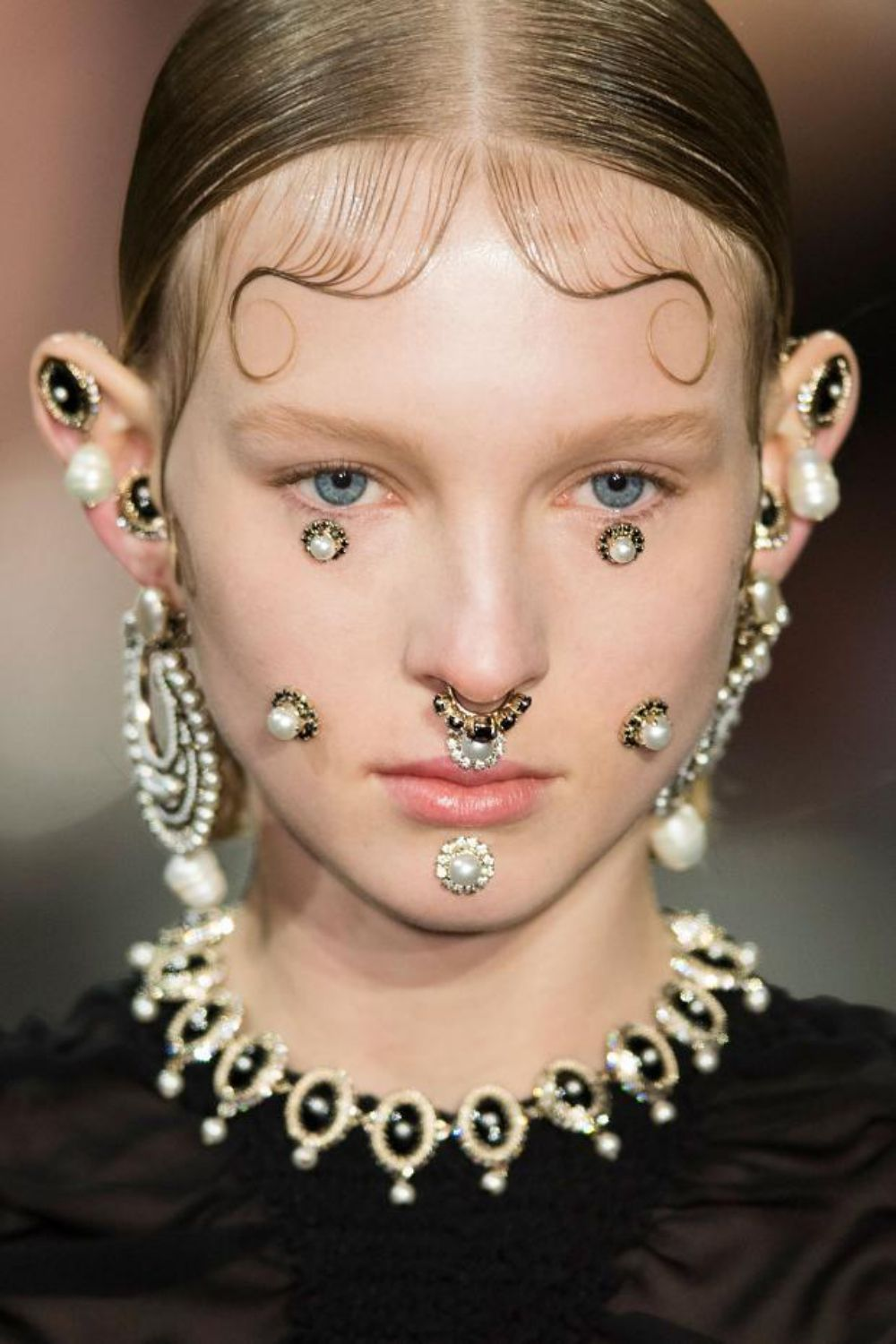 Last Day of Magic Studded Hearts Face jewels, Fashion