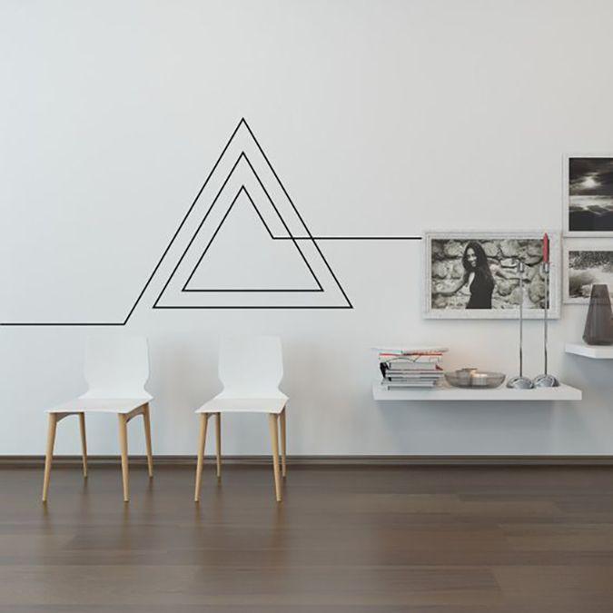 Resultado de imagen para paredes decoradas con triangulos Imagenes