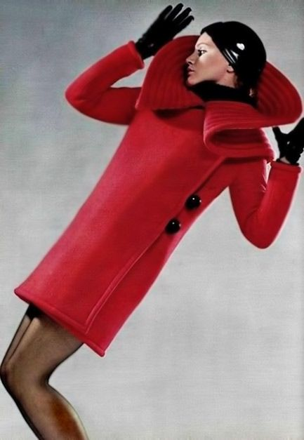 °Pierre Cardin 60's red coat -@ChansLau